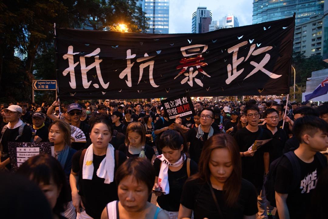 2019年7月1日,民陣發起七一大遊行,以撤回送中條例和要求特首林鄭月娥下台為主題。 攝:Stanley Leung/端傳媒