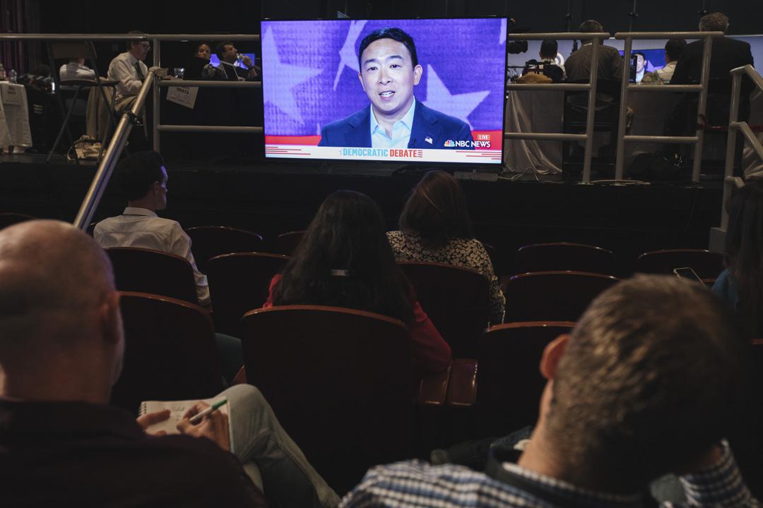2019年6月27日,美國民主黨初選辯論,楊安澤(Andrew Yang)。