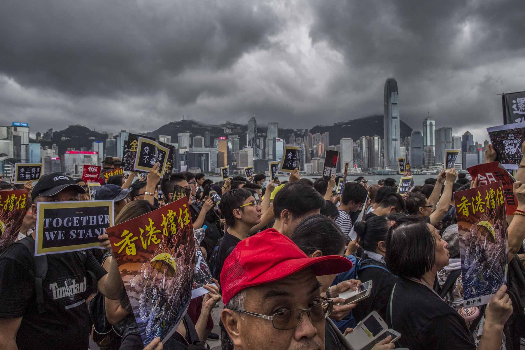 2019年7月7日,香港九龍區反修例大遊行。 攝:林振東/端傳媒