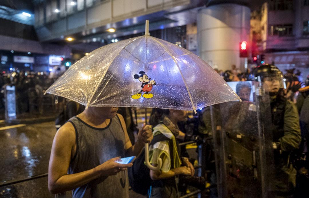 2019年8月25日,Anthony在荃灣警民衝突現場。