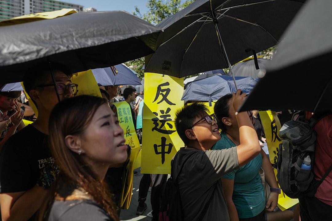 2019年8月5日,黃大仙罷工集會。