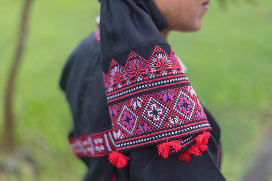 潘燕玉的刺繡。