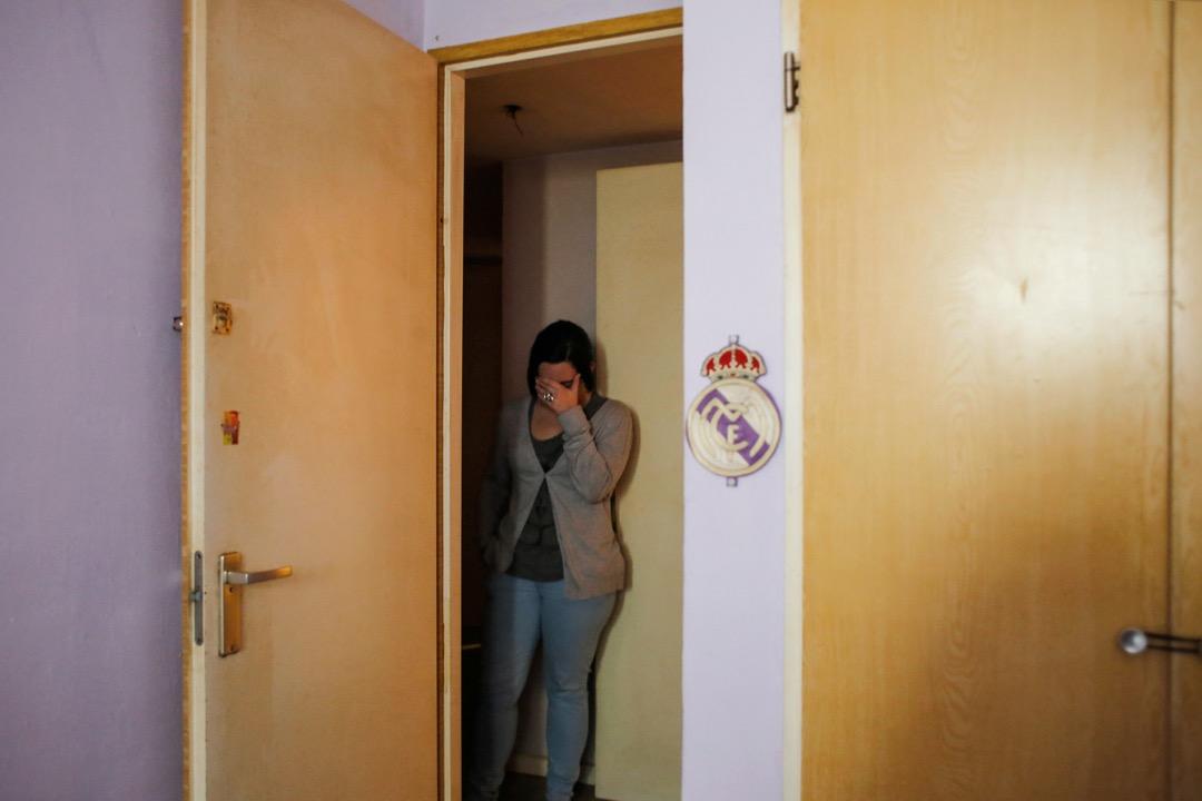 2014年2月,西班牙馬德里,Miriam一家人被逼遷。