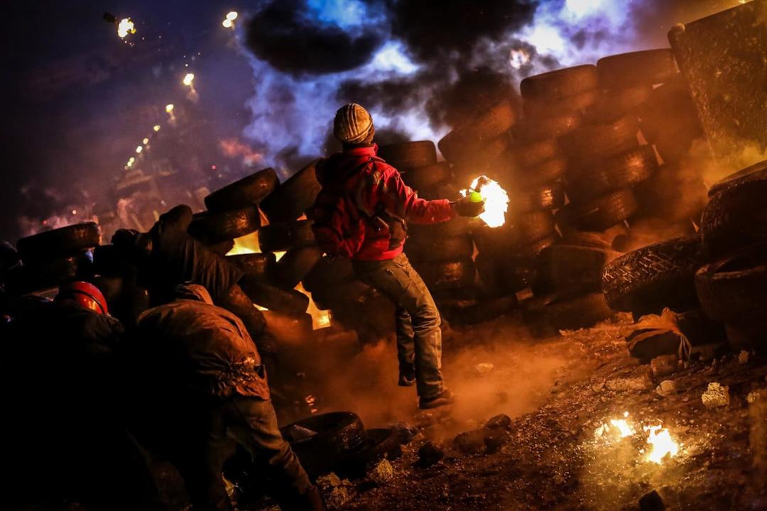 紀錄片《Winter on Fire》劇照。 圖:Netflix
