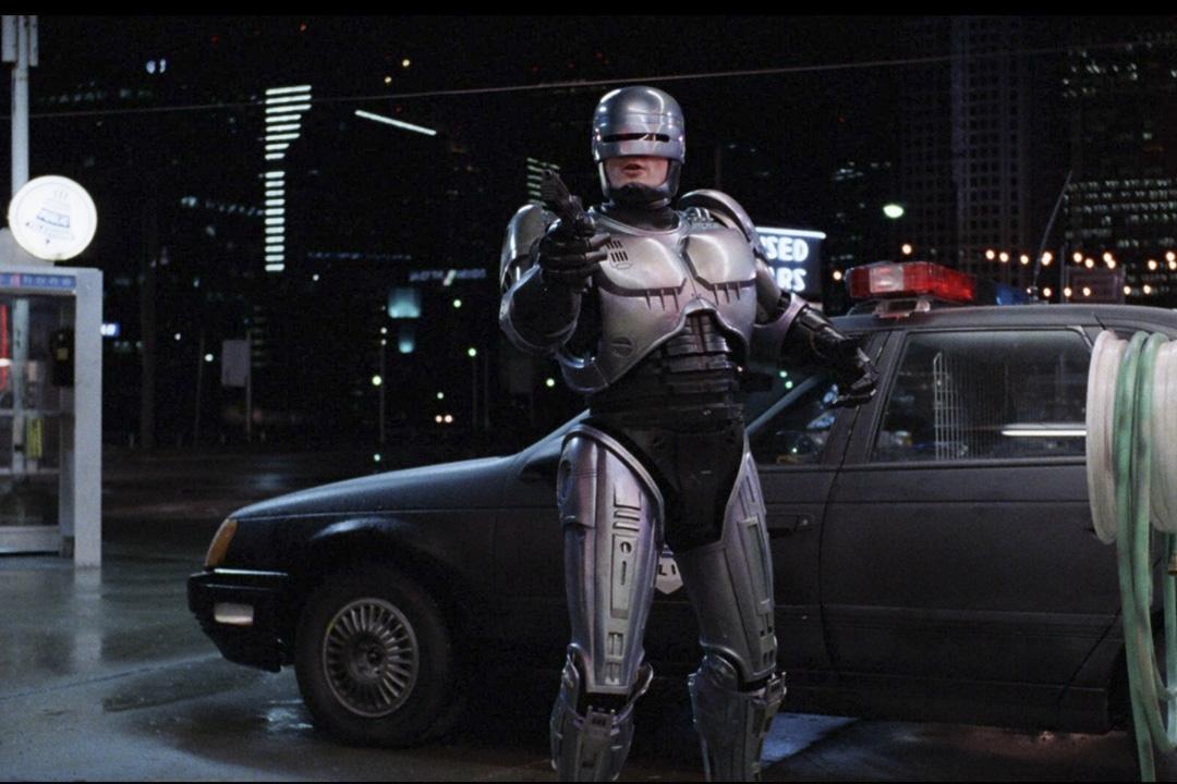 1987年的科幻電影《RoboCop 機器戰警》劇照。