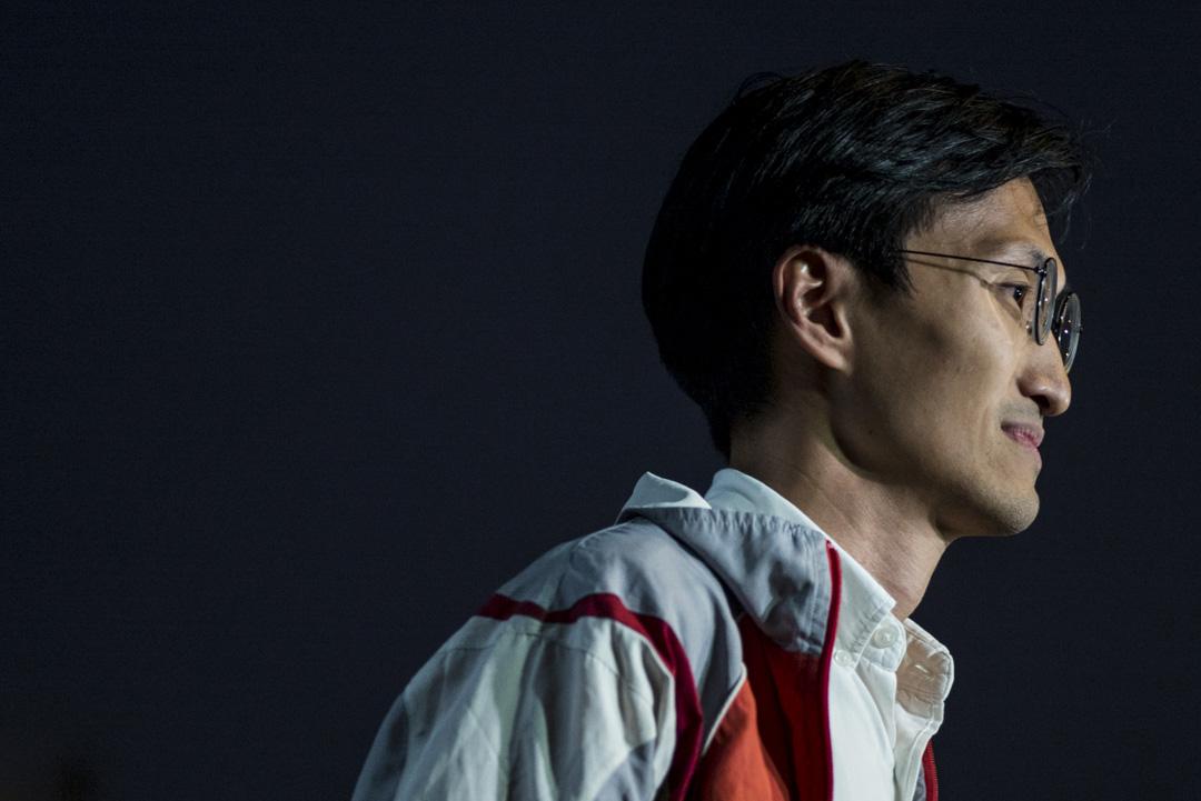 2019年8月1日,香港泛民主派立法會議員朱凱廸召開記者會,稱過去一週收到連串恐嚇信息,包括有江湖消息指元朗黑社會幫派正對他下「暗殺令」。 攝:林振東 / 端傳媒