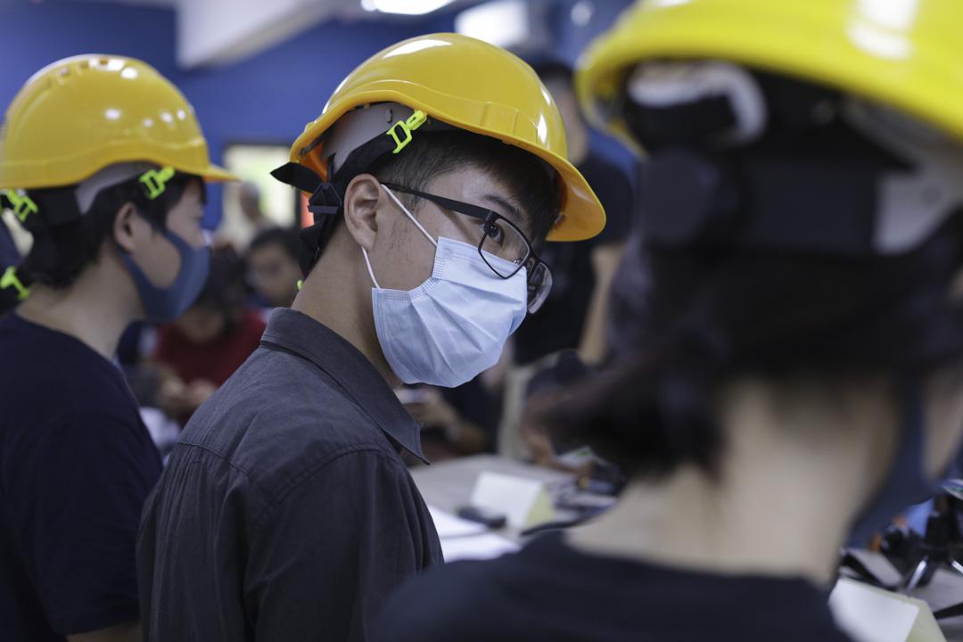 2019年8月6日,網民發起首次「民間記者會」。 攝:Stanley Leung/端傳媒