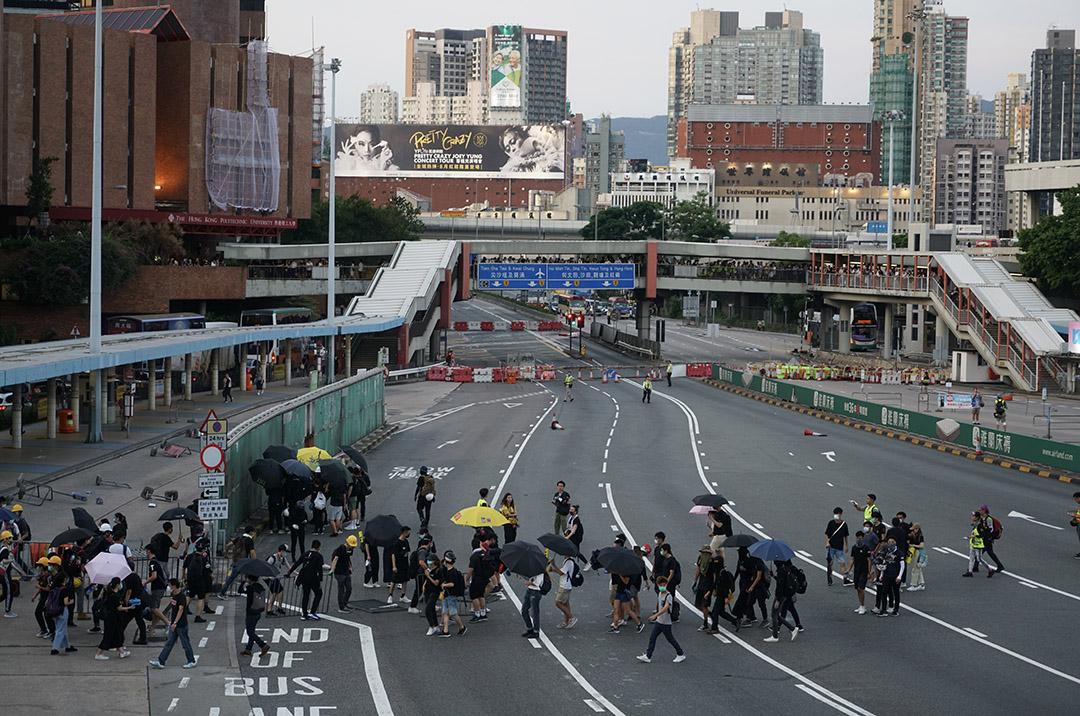 2019年8月5日,示威者快閃堵塞紅隧。