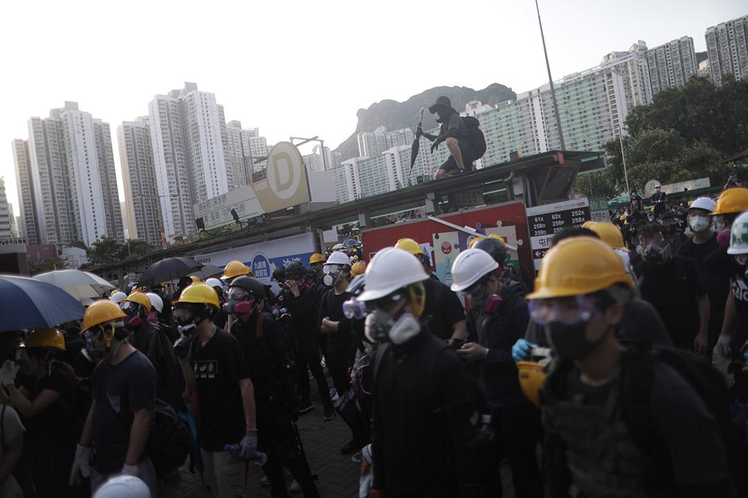 2019年8月5日,黃大仙示威群眾。