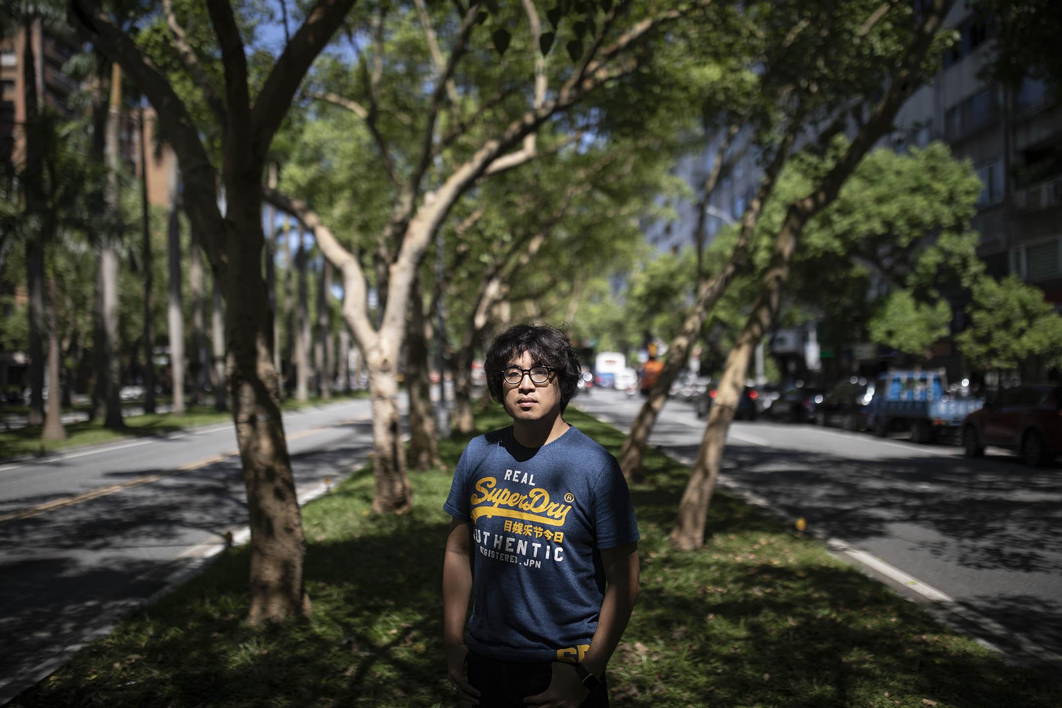 台北大學犯罪學研究所助理教授沈柏洋。 攝:陳焯煇/端傳媒
