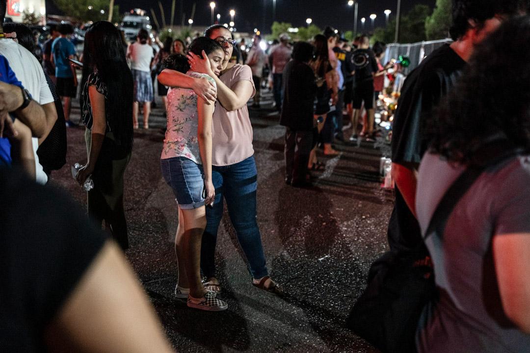 2019年8月8日,艾爾帕索槍擊案案發現場。