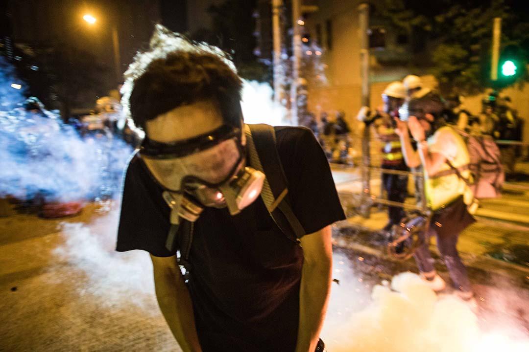2019年8月4日,警方在黃大仙清場。