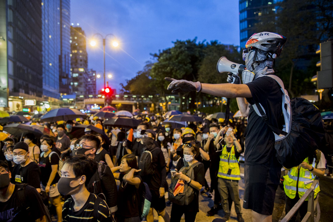 2019年8月3日,「旺角再遊行」,示威者行過漆咸道。