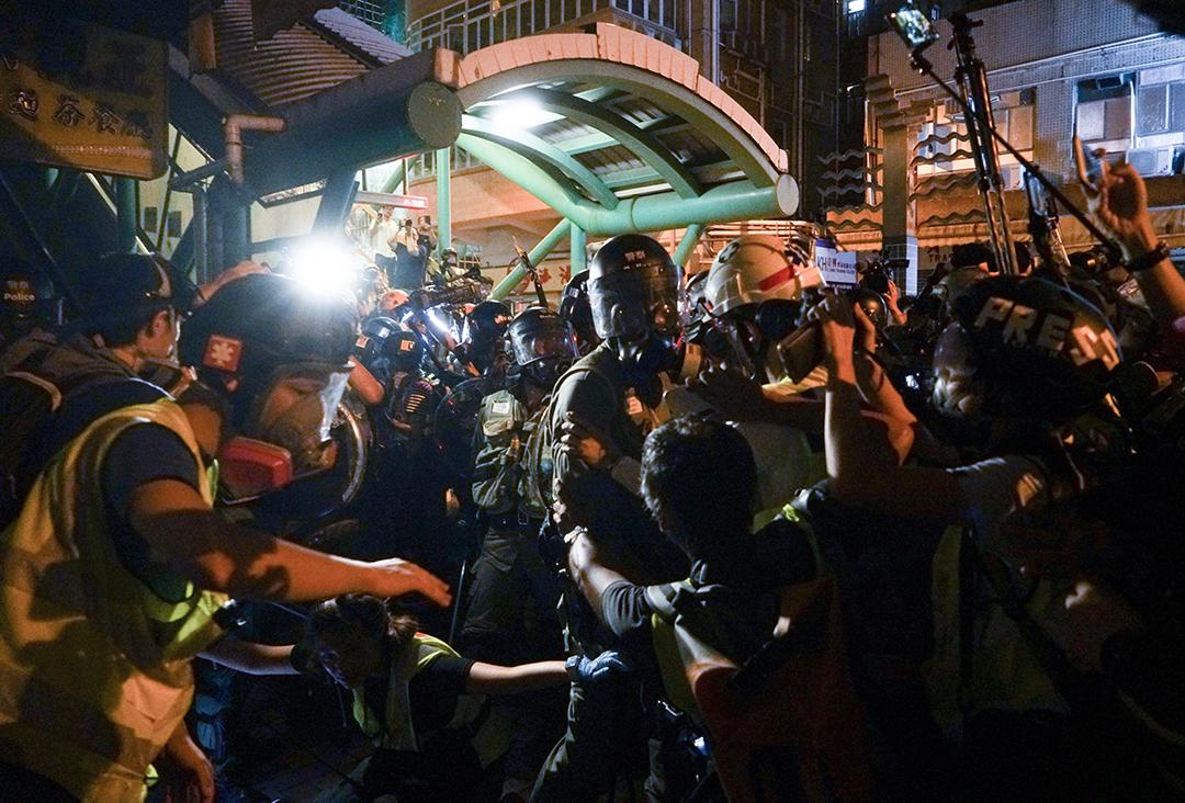 2019年8月5日,深水埗警察展開清場行動。