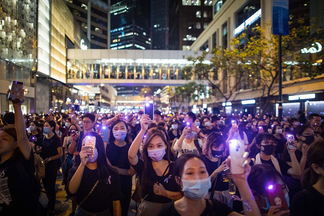 2019年8月28日,平等機會婦女聯席在遮打花園發起集會,主題為「執法為名 凌辱為實」,追討警方以性暴力鎮壓示威者。