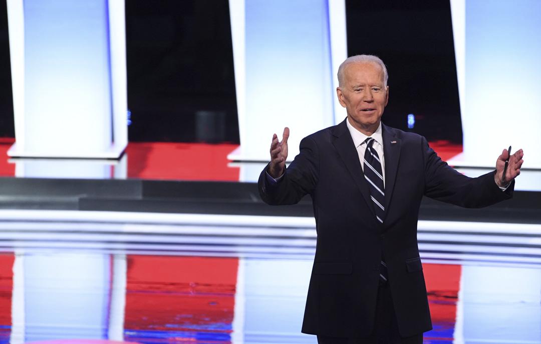 參與民主黨總統初選候選人,前副總統拜登(Joe Biden)。