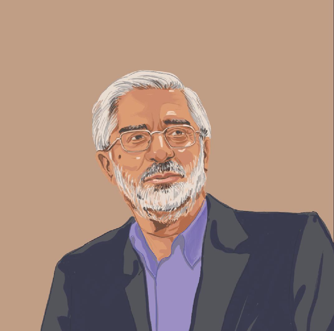 伊朗革命元老中伊斯蘭左翼的代表穆薩維,2009年,穆薩維在總統選舉中的敗選引發了民眾的「綠色革命」。