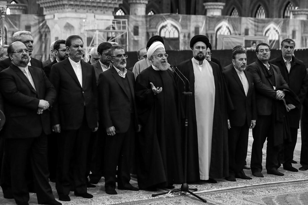 2019年1月30日,伊朗總統魯哈尼發表講話。