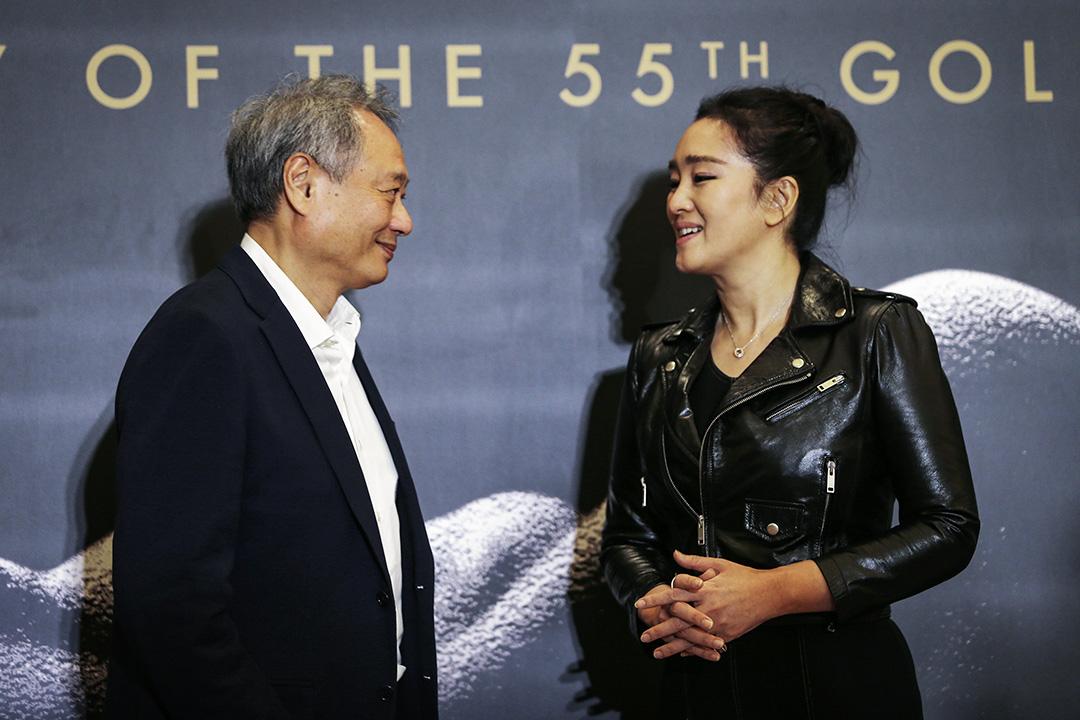 2019年8月7日,中國宣布暫停中國內地影片和電影人參加本屆金馬影展。圖為2018年金馬獎評審團主席鞏俐。 圖:VCG via Getty Images