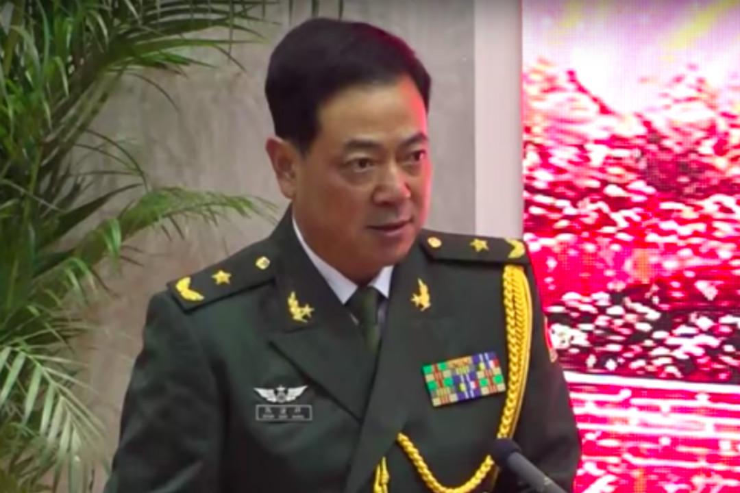2019年7月31日,中國解放軍駐港部隊司令員陳道祥出席慶祝建軍92週年招待會並致辭。 圖片來自網絡。