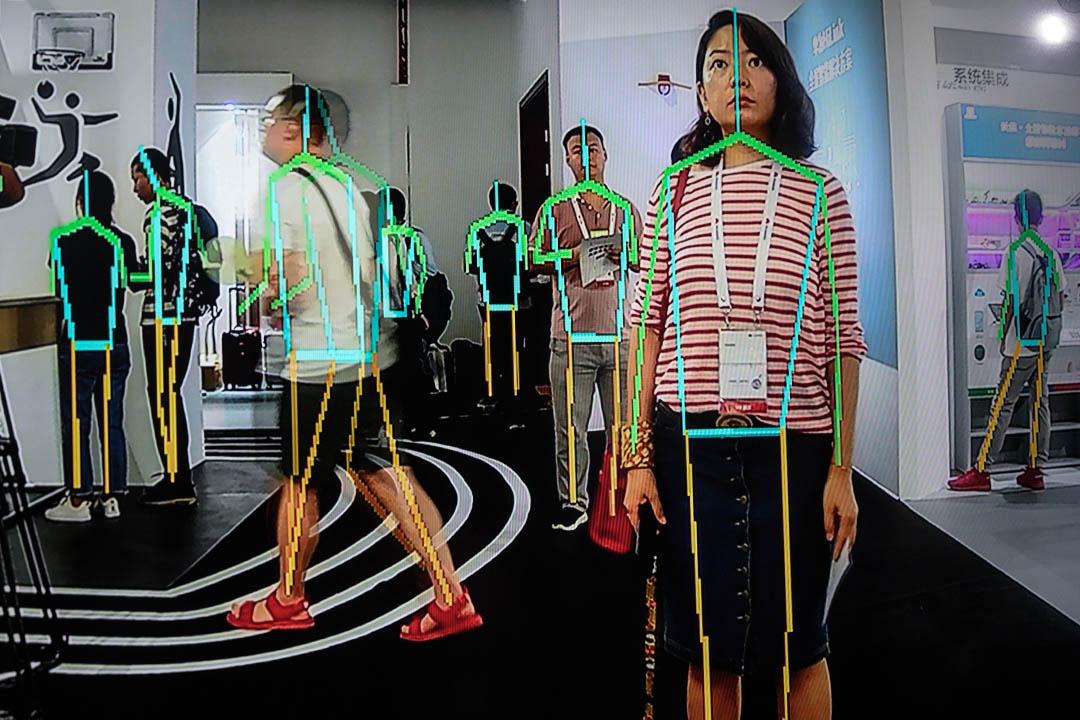 2019年8月10日,廣東省東莞市華為舉行的華為開發者大會,展示了華為設備的跟踪模式。 攝:Fred Dufour/AFP via Getty Images