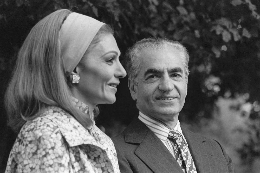 1979年1月24日,伊朗國王穆罕默德·禮薩·巴列維國王和他的妻子在摩洛哥逗留期間。