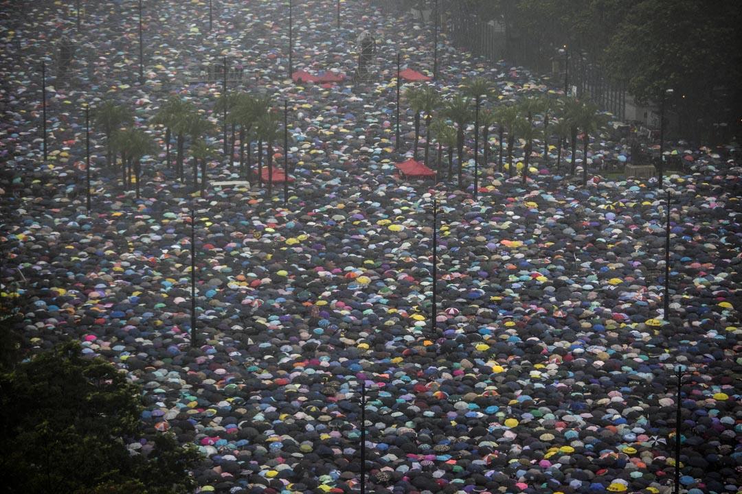2019年8月18日,民陣發起的和理非流動集會,參加市民填滿整個維園足球場。