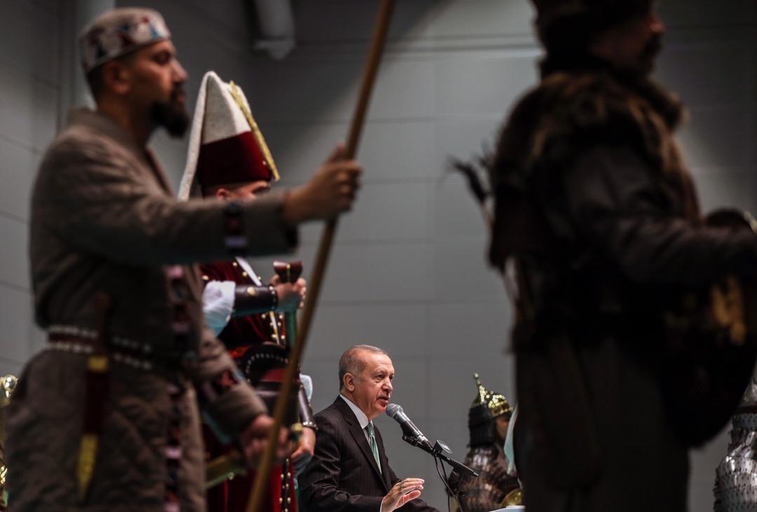 2019年5月29日,土耳其總統埃爾多安出席一個紀念鄂圖曼帝國征服伊斯坦堡566週年的晚宴,並在晚宴上發表演說。