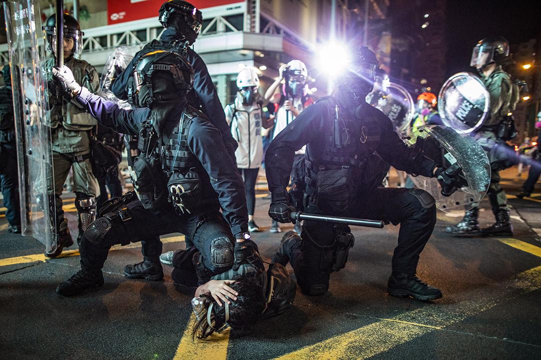 2019年8月3日,速龍小隊在旺角清場並逮捕示威者。