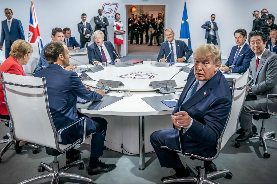 2019年8月25日,法國比亞里茨,七國集團(G7)峰會現場。 攝:Michael Kappeler/Getty Images