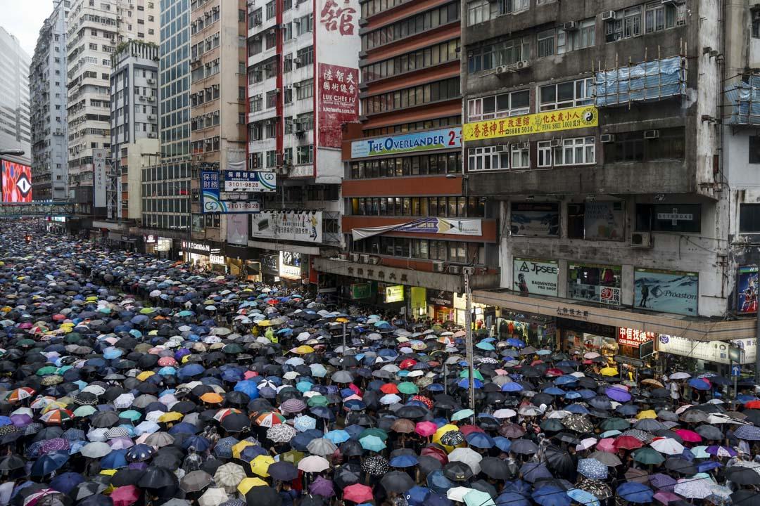 2019年8月18日,民陣發起主題為「止黑暴,制警亂」的流動集會。
