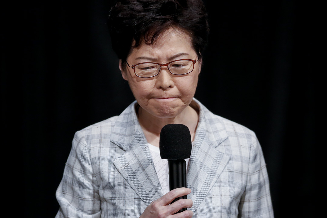 2019年9月26日,特首林鄭月娥出席政府首場「社區對話」。