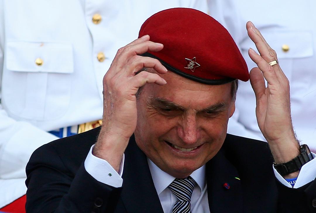2019年8月23日,巴西總統博索納羅(Jair Bolsonaro)出席陸軍總部舉行的士兵節儀式。
