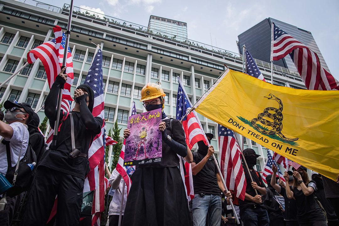 9月8日,參加香港人權與民主祈禱會的示威人群。