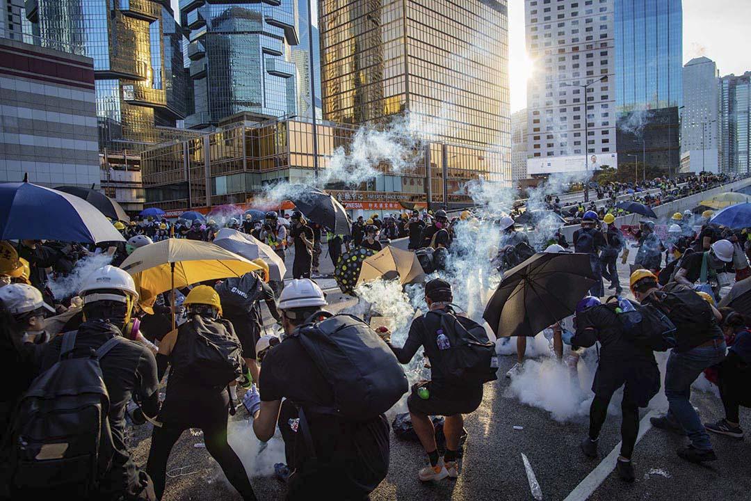 2019年8月5日,金鐘警察展開清場行動。