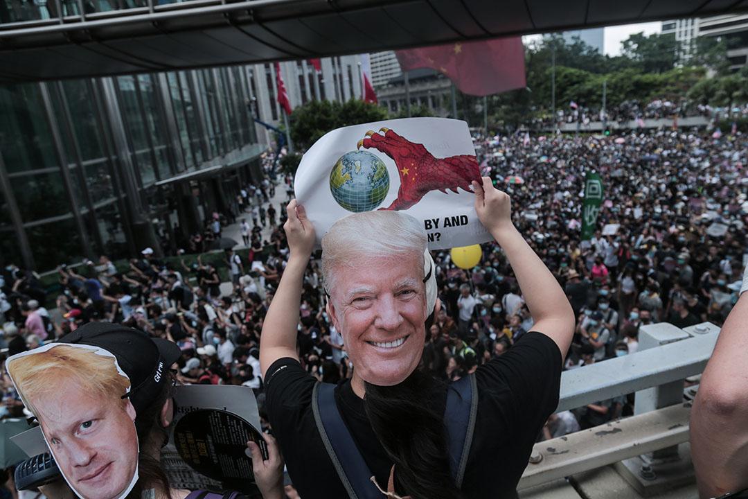 9月8日,參加香港人權與民主祈禱會的示威者。