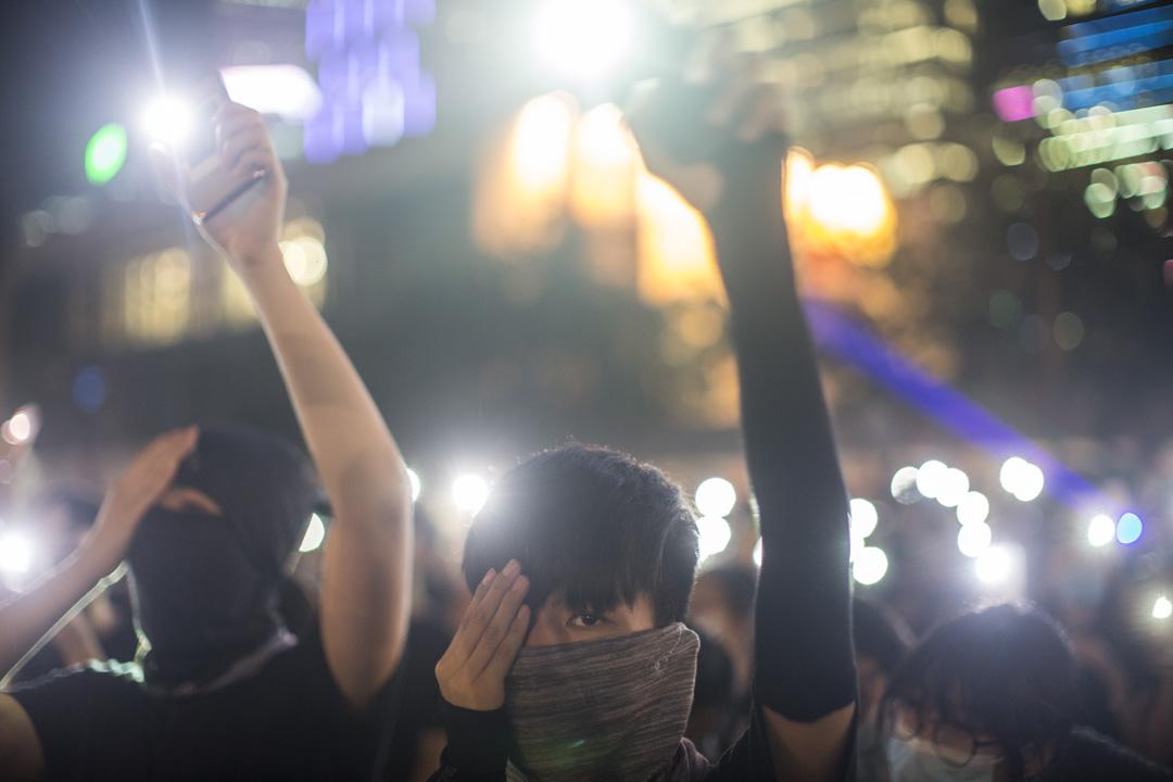 2019年8月22日,中學生到中環參與「罷課不罷學」反修例集會。