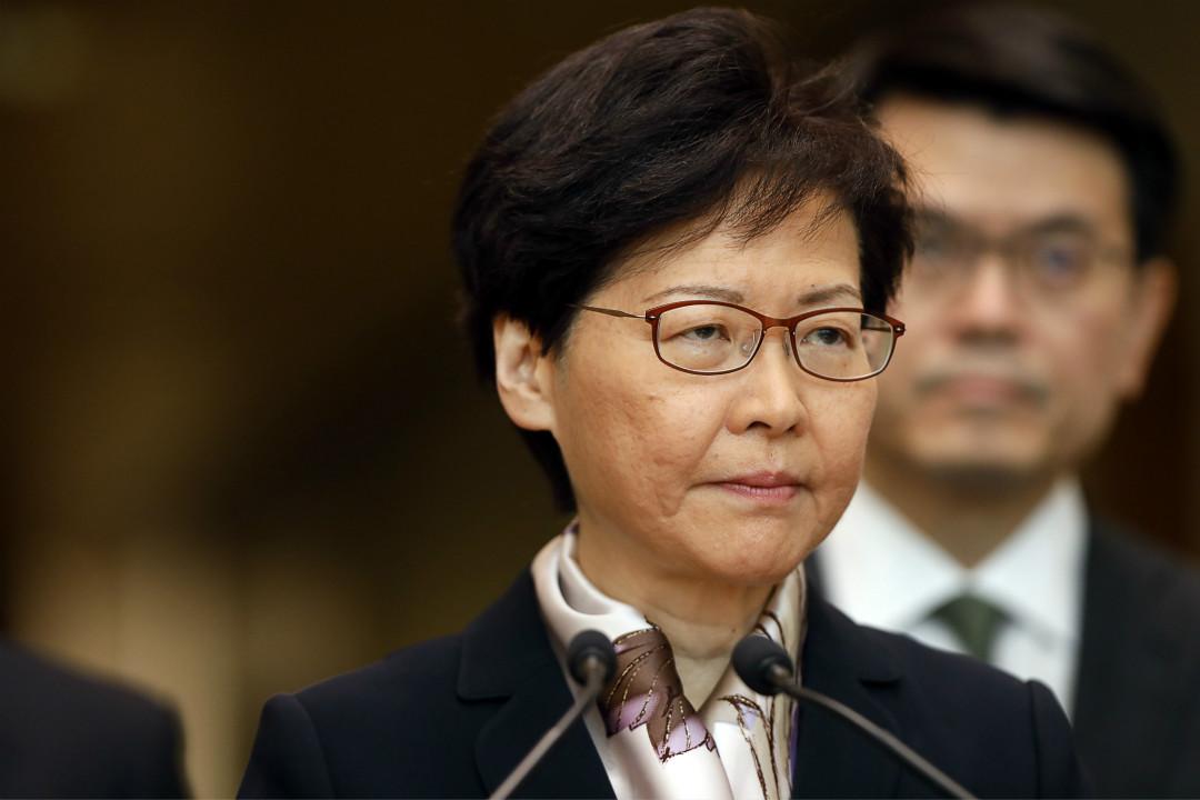2019年8月5日,香港特首林鄭月娥舉行記者會。 攝:Justin Chin/Getty Images