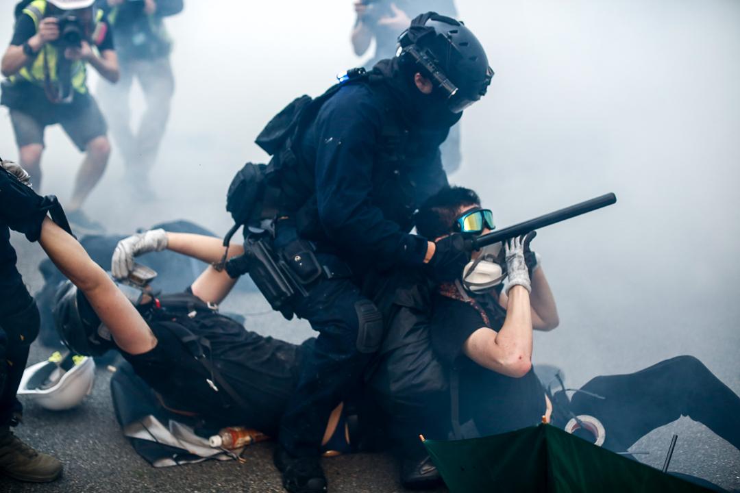 2019年9月29日,警方「速龍小隊」拘捕示威者。