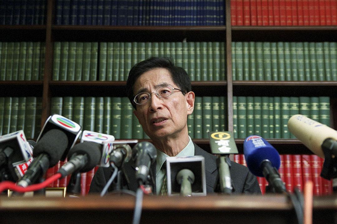 民主黨創黨主席、資深大律師李柱銘。