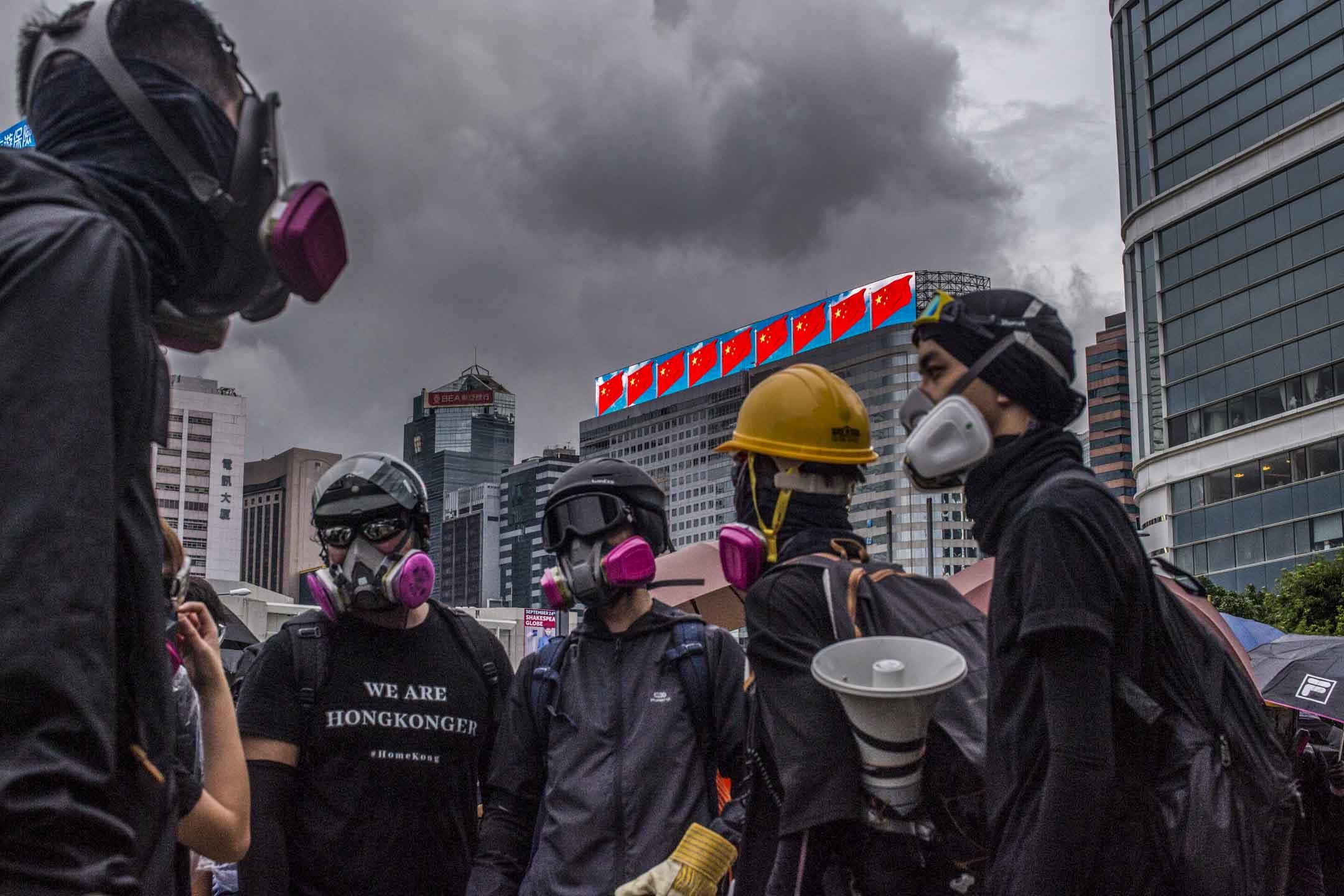 2019年8月31日,示威者金鐘立法會外。 攝:林振東/端傳媒