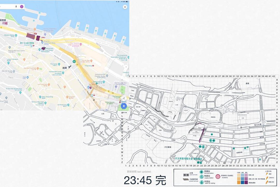 之柔起初製作地圖時,以人手繪製街道底圖,既費時,又追不上現場情況變化。