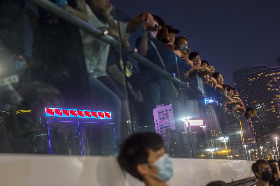 9月28日,晚上7點左右,添馬公園,雨傘運動五週年集會。