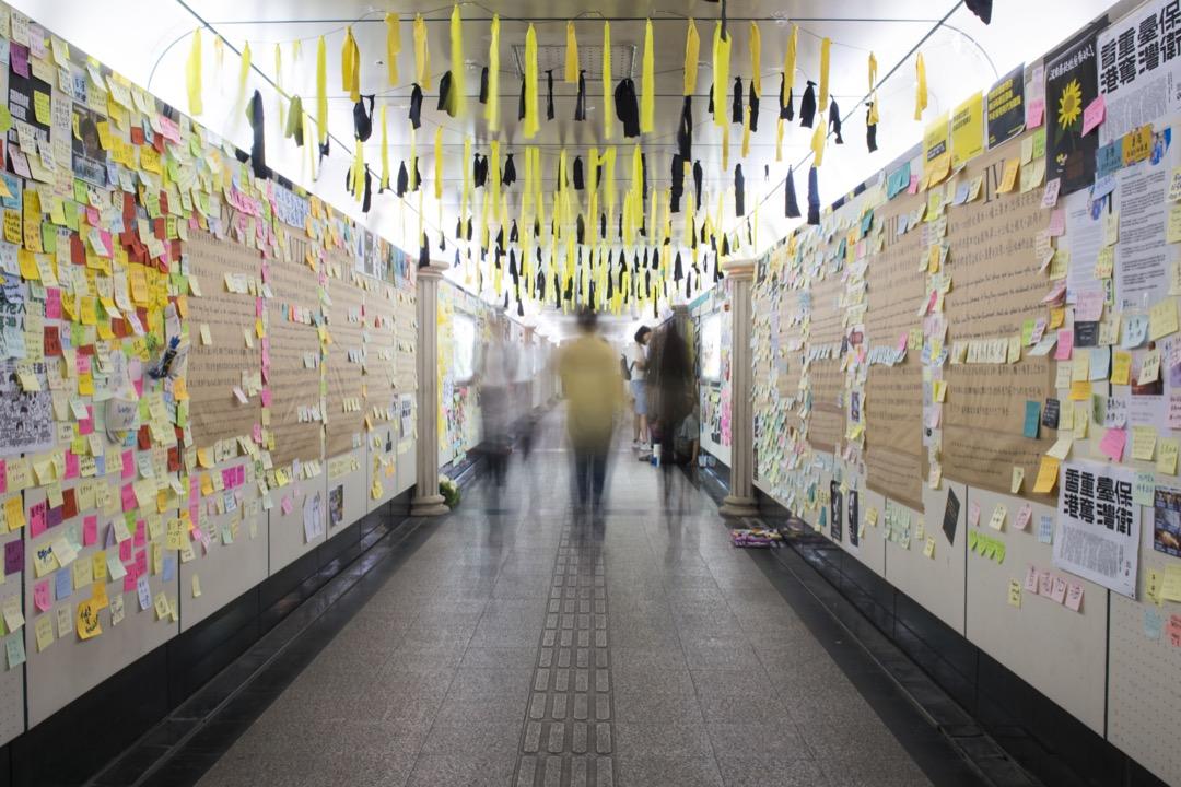 台灣公館連儂牆。 攝:林彥廷/端傳媒