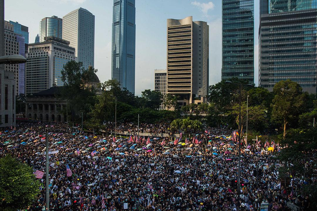 9月8日,參加香港人權與民主祈禱會的人群。