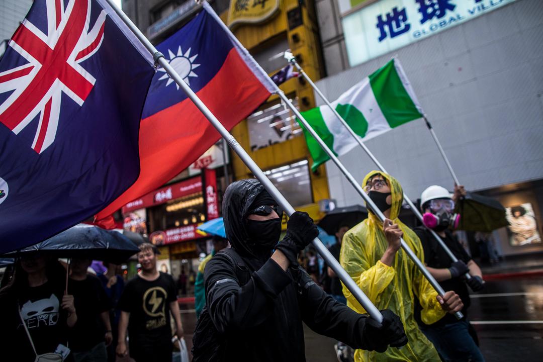 2019年9月29日,台灣民眾發起遊行聲援香港反送中運動。