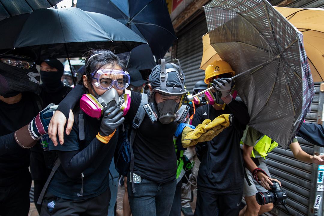 2019年9月29日,「全球反極權」大遊行期間有示威者中彈。