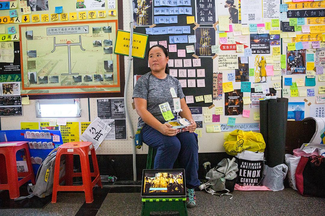 香港人Candy,今年37歲,住在香港沙田。 攝:Eason Lam/端傳媒