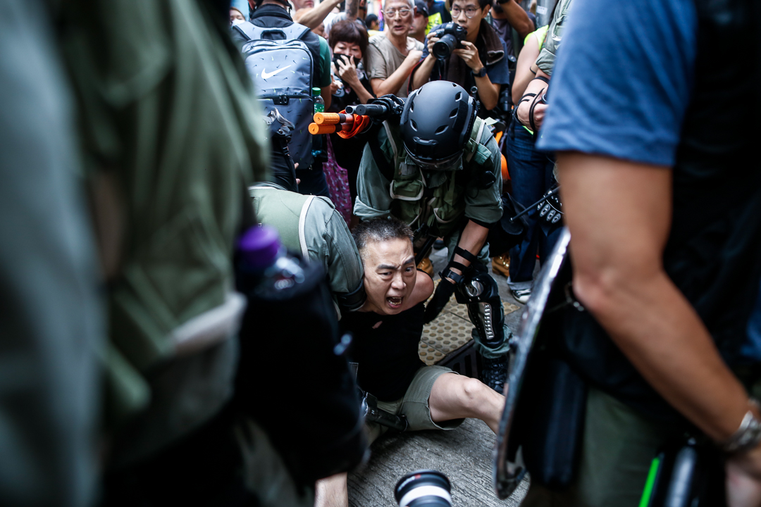 2019年9月29日,示威者在銅鑼灣被拘捕。