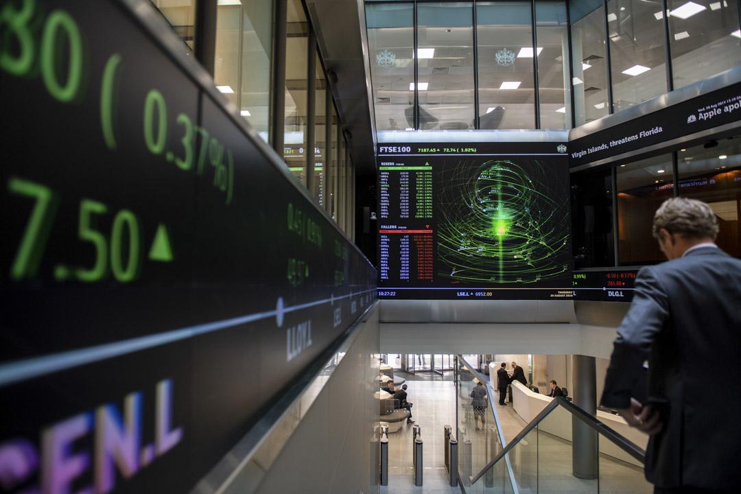 香港交易所提出以近370億美元收購倫敦證券交易所,該交易將使正面臨嚴重政治壓力的全球兩大主要交易中心聯手。 攝:Chris J Ratcliffe/Getty Images